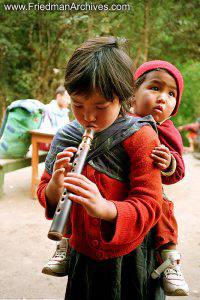 Nepal Images Girl with Flute