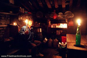 Nepal Images - Kitchen by Candelight