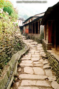 Nepal Images - Stone Walk in Village