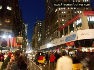 NY Street at Night