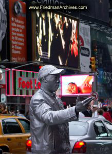 Silver Mime in Times Square