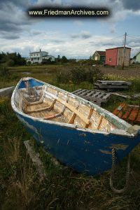 Boat in Storage in Field