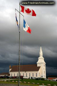 Church and Flags