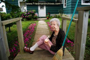 Old Lady with Broom and Sherbet
