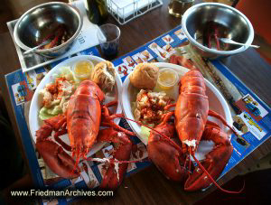 Plates of Lobster