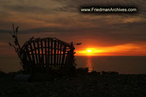 Wicker Chair at Sunset