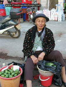 Old Woman with eyes closed