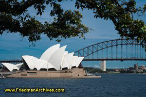 Opera House and Harbor Bridge - Blue Sky