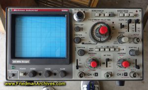 Oscilloscope cleaned up