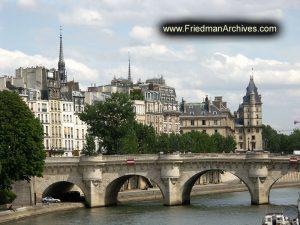 Paris Buildings Near Louvre