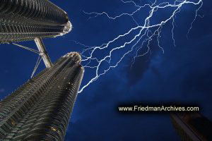 Petronas Towers and Lightning