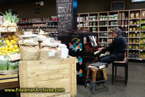 Piano in a grocery store