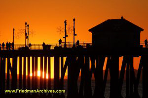 Pier Silhouette at Sunset