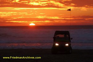 Pismo Beach Jeep Sunset