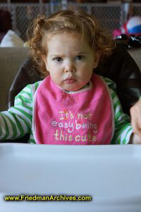 Pouting in High Chair
