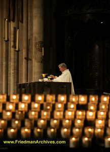 Priest and Candles