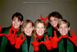 Red Hands Green Scarves