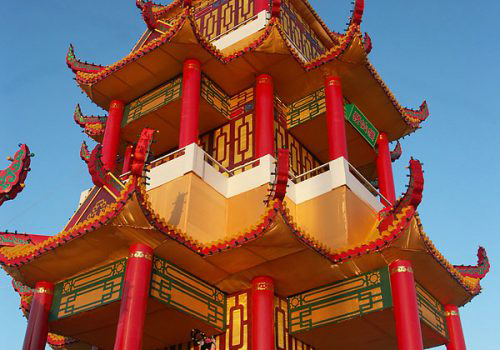 Red Pagoda Building