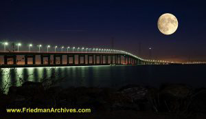 San Mateo Bridge plus Moon