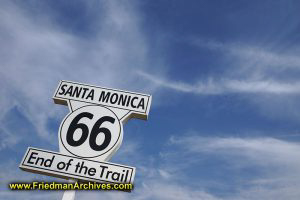 Santa Monica Sign - End of the Trail