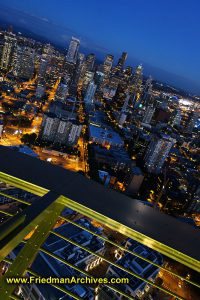 Seattle from Space Needle (Vertical)
