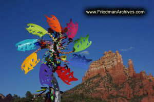 Sedona Colorful Windmill