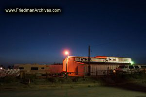 Sedona Leather Factory at Night