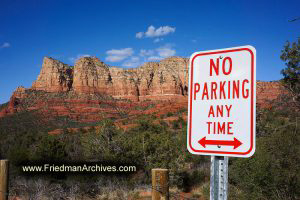 Sedona No Parking Sign