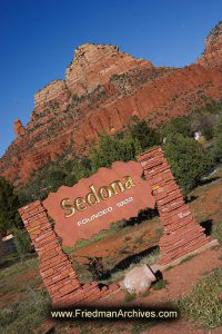 Sedona Sedona Sign at an Angle
