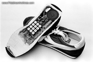 Shoe Phone (B and W)