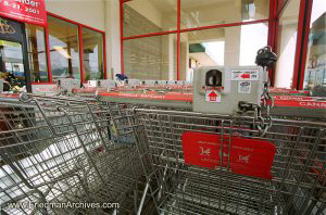 Shopping Carts Locked
