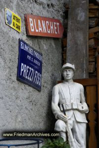 Signs and Statue
