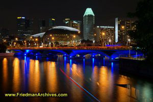 Singapore Blue and Orange Bridge