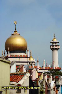 Singapore / Mosque in Neighborhood