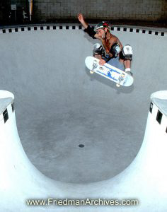 Skateboard Images - Fly across opening in pool