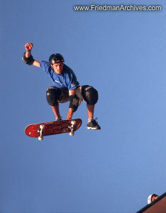 Skateboard Images - Flying Red Skateboard