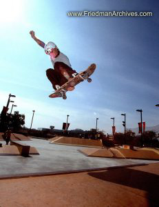 Skateboard Images Flying Skateboarder