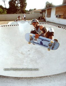 Skateboard Images - Flying in Pool
