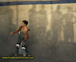 Skater Girl and Shadow