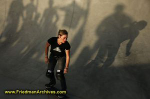 Skater Girl and Shadows