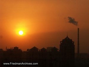 Smoggy Sunset