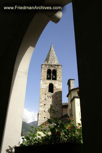 French Countryside / Steeple Through Arch