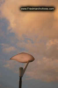 Street Light at Sunset