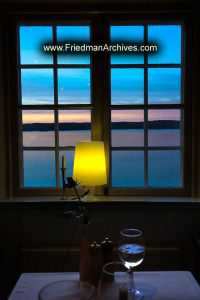 Sweden Lamp and Window at Sunset