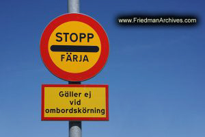 Sweden Stopp Sign