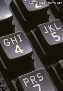Telephone keypad closeup