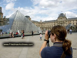 Tourist at the Louvre