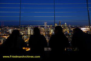 Tourists at the Space Needle