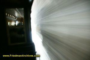 Train through a tunnel