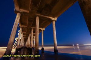 Under the Pier at Night